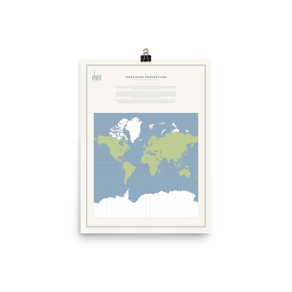 Map Men Poster - Mercator Projection