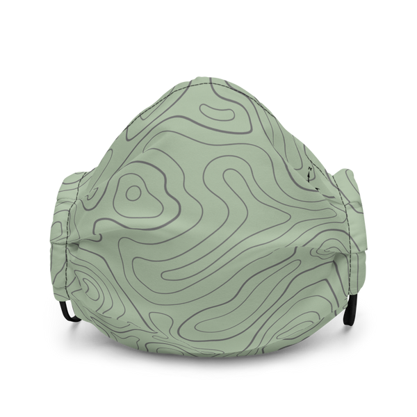 Mask with contour map (green)