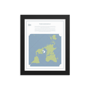 Map Men Framed Map - Peirce Projection