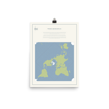 Load image into Gallery viewer, Map Men Poster - Peirce Projection
