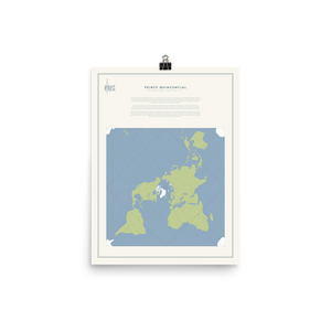 Map Men Poster - Peirce Projection