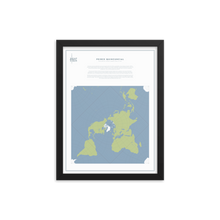 Load image into Gallery viewer, Map Men Framed Map - Peirce Projection