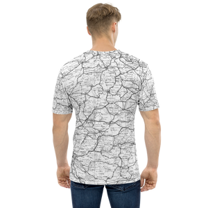 All Over Print T-Shirt - road map (white)