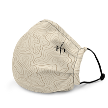 Load image into Gallery viewer, Mask with contour map (beige)