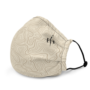 Mask with contour map (beige)
