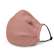 Load image into Gallery viewer, Mask with contour map (pink)