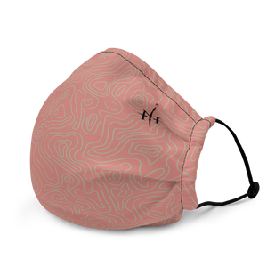 Mask with contour map (pink)