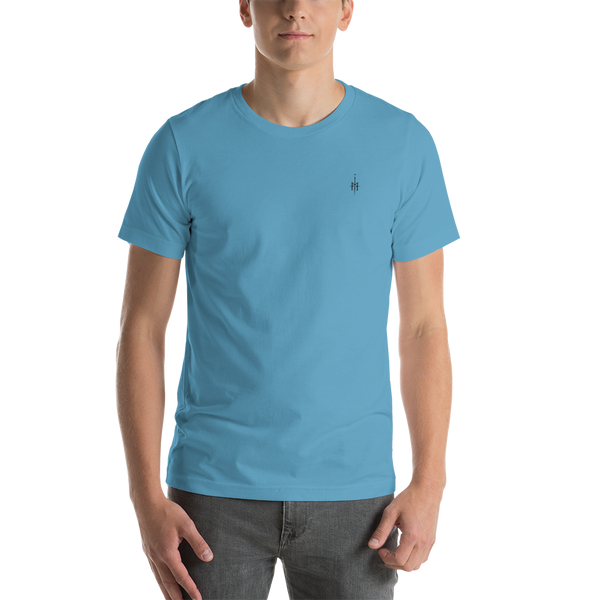 T-Shirt with SMALL logo (blue)