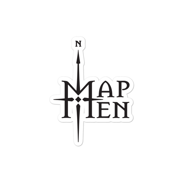 Map Men logo sticker