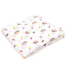 Load image into Gallery viewer, Muslin Cotton Swaddle Monkey