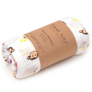 Muslin Cotton Swaddle Monkey