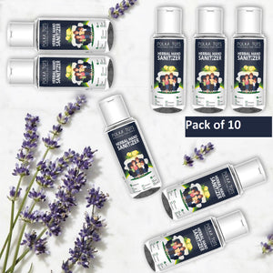 Herbal Pocket Sanitizer Pack of 10 (100ML / Bottle)