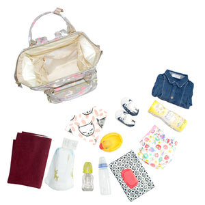 Premium Diaper Backpack Bag - 17 Pockets Unicorn