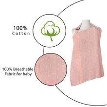 Load image into Gallery viewer, Nursing Feeding Apron Maternity Cover 100% Cotton for Mothers with Carry Pouch (Peach)
