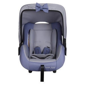Polka Tots 4 in 1 Multi Purpose Baby Car Seat Cum Carrycot with Fancy Bow Tie, Baby Carry Cot,Car Seat, Rocker,Feeding Chair for Infants 0 to 15 Months