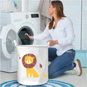 Polka Tots Laundry Bag Canvas Storage Bag Lion Print