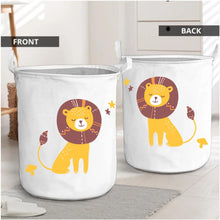 Load image into Gallery viewer, Polka Tots Laundry Bag Canvas Storage Bag Lion Print