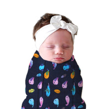 Load image into Gallery viewer, Polka Tots Muslin Swaddle 100% Organic Cotton (Bird)