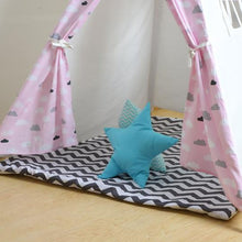 Load image into Gallery viewer, Kids Teepee Tent with Non - Slip Padded Mat Kids Pink