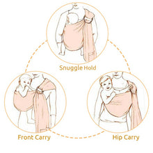Load image into Gallery viewer, Baby Ring Sling Carrier Wrap Zic Zac