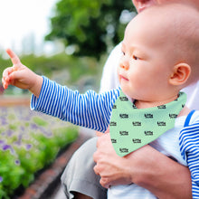 Load image into Gallery viewer, Bandana Style Bib Little Man Print