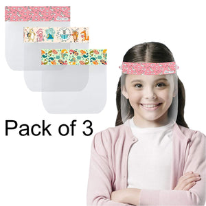 Face Shield For Girls Pack of 3