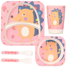 Load image into Gallery viewer, Eco Friendly Bamboo Fibre Kid's Dinner Set