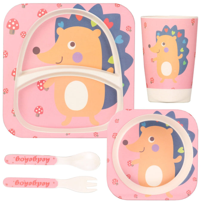 Eco Friendly Bamboo Fibre Kid's Dinner Set