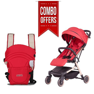 Combo of Baby Stroller and Baby Carrier