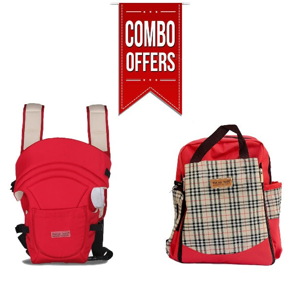 Combo of 3 in 1 Diaper Bag BackPack and Baby Carrier
