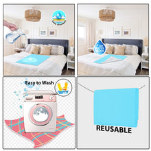 Load image into Gallery viewer, Baby Dry Sheet / Bed Protector Medium Blue (Size 70 x 100 CM)