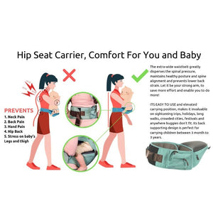 Ergonomic Baby Hip Seat / 6 in 1 Baby Carrier With Trendy Carry Bag