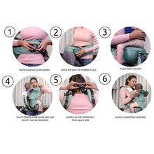 Load image into Gallery viewer, Ergonomic Baby Hip Seat / 6 in 1 Baby Carrier With Trendy Carry Bag