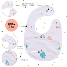 Load image into Gallery viewer, Organic Muslin Cotton Bibs (Bird) (3 Layers)