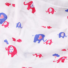Load image into Gallery viewer, 100% Organic Muslin Cotton Swaddle Baby Wrap Elephant