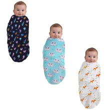 Load image into Gallery viewer, Polka Tots 100% Organic Cotton Swaddle Wrap Large Size 120 x 120 CM (Pack of 3)