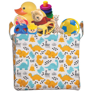 Polka Tots Storage Box Canvas Box (Dinosaur)