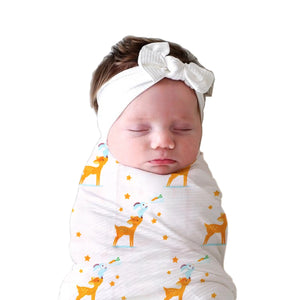 Polka Tots 100% Organic Cotton Swaddle Wrap Large Size 120 x 120 CM (Pack of 3)