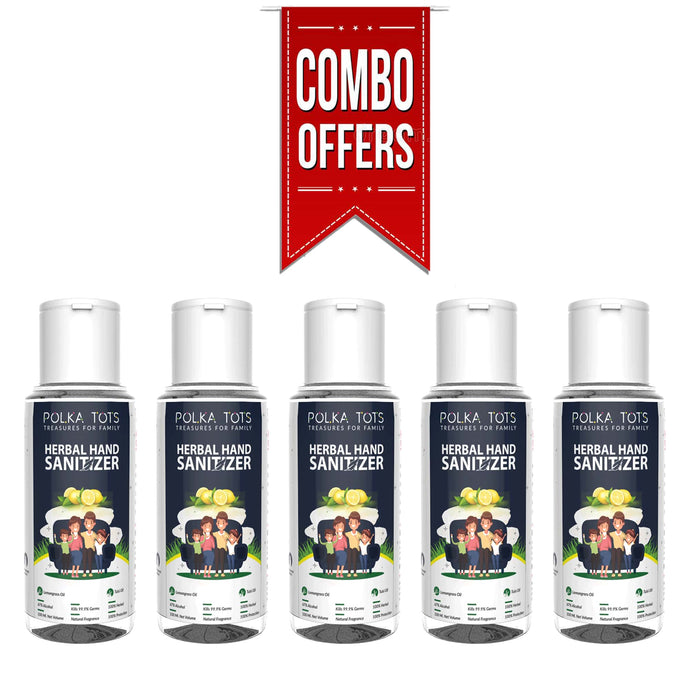 Combo of Herbal Hand Sanitizer Pack of 5