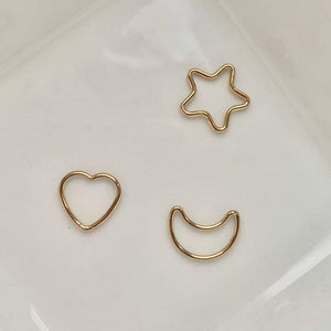 Gold-filled star and moon charms for personalised bracelets