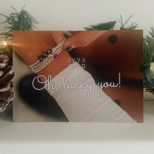Ivy & Gold personalised bracelets and accessories gift cards