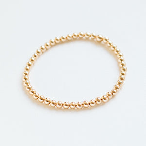 4mm 14k gold-filled bead bracelet