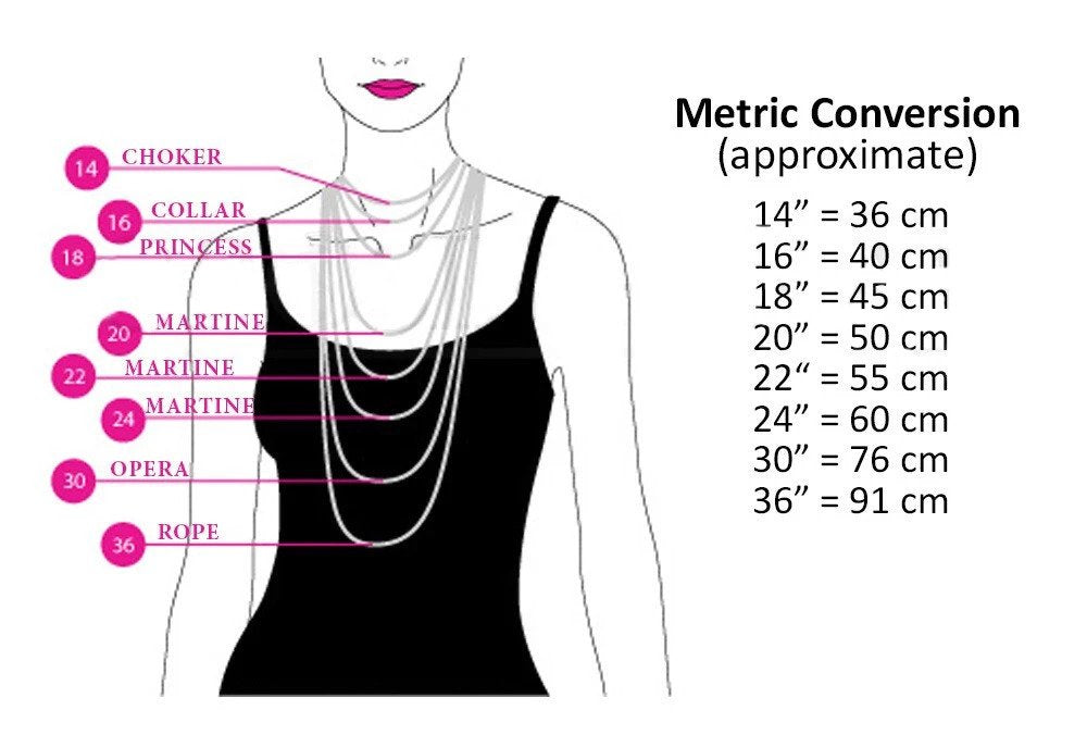 Brokedown Luxury Necklace Length Size Guide