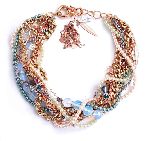 Pearl & Crystal Statement Necklace