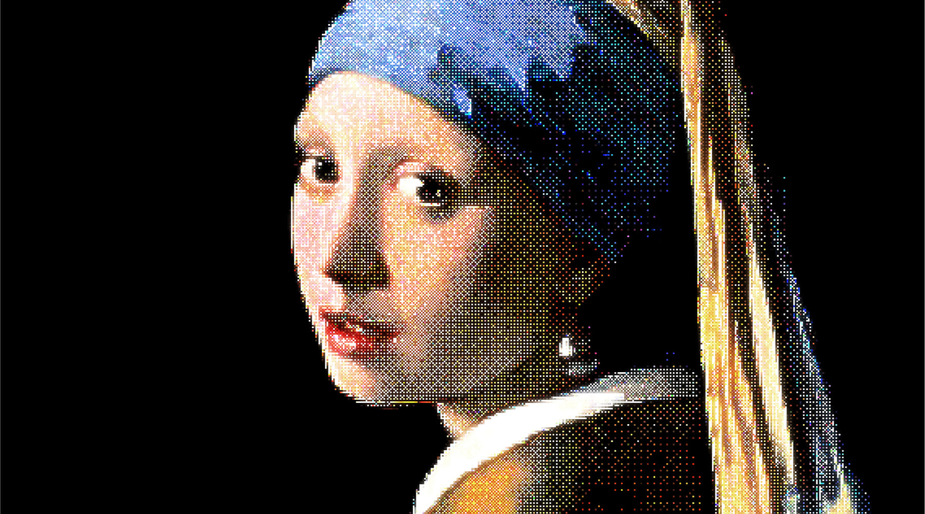 Re-creation of Girl with a Pearl Earring Painting.