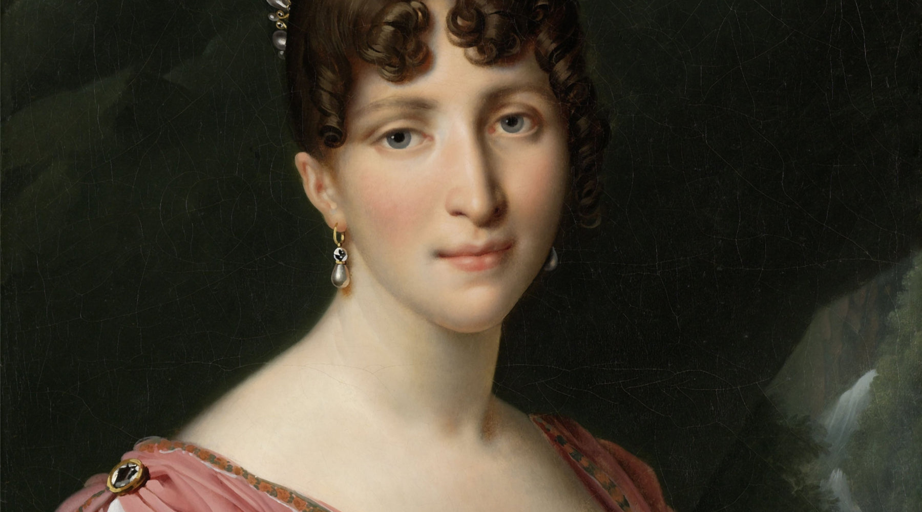 Painting of Victorian woman.