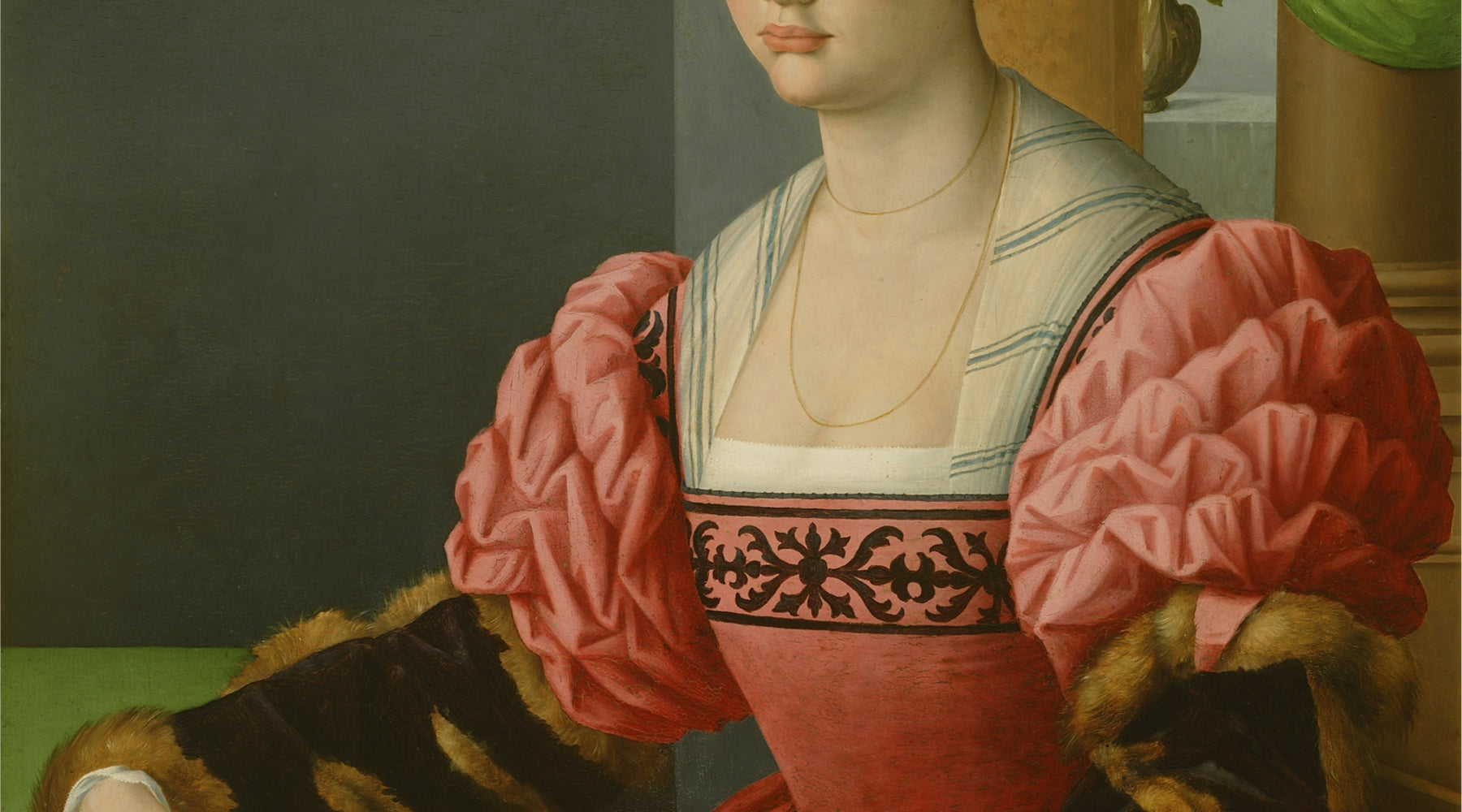 Painting of medieval woman.