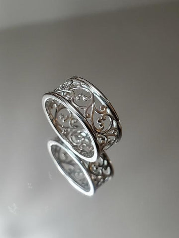 Silver Vines Ring