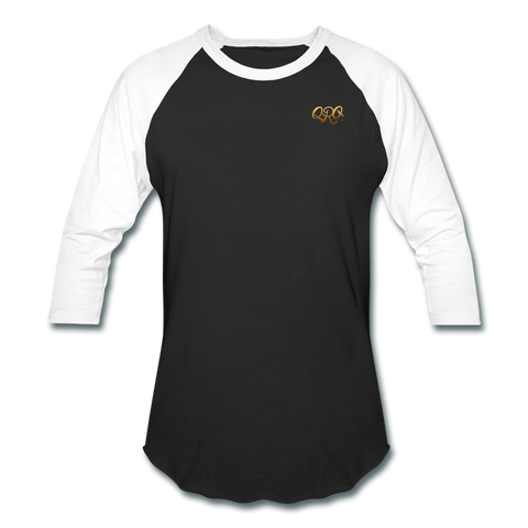 "Men's Qronation ""Debut Gold"" Baseball T-Shirt - black/white"