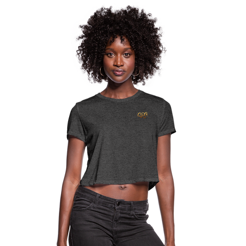 "Women's Qronation ""Debut Gold"" Crop Top - deep heather"